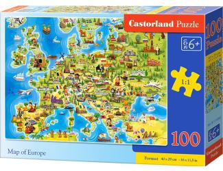 Castorland puzzle 100 dílků - Mapa Evropy