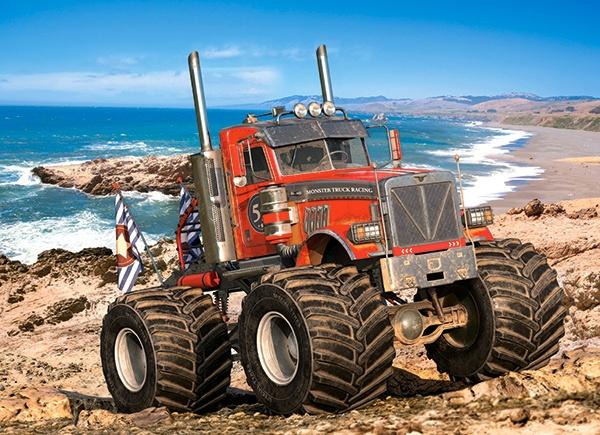 Puzzle Castorland 200 dílků premium - Monster Truck na skalnatém útesu