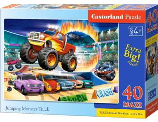 Puzzle MAXI 40dílků - Skákající Monster Truck