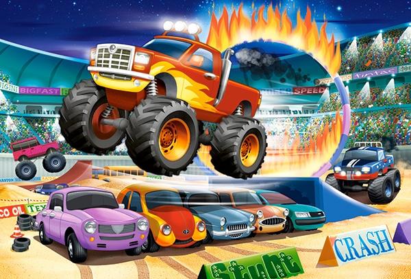 Puzzle Castorland MAXI 40 dílků - Skákající Monster Truck