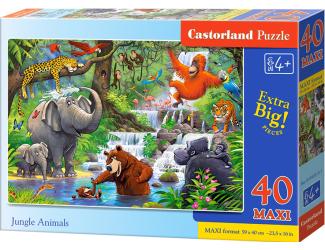 Puzzle MAXI 40dílků - Zvířata z Džungle