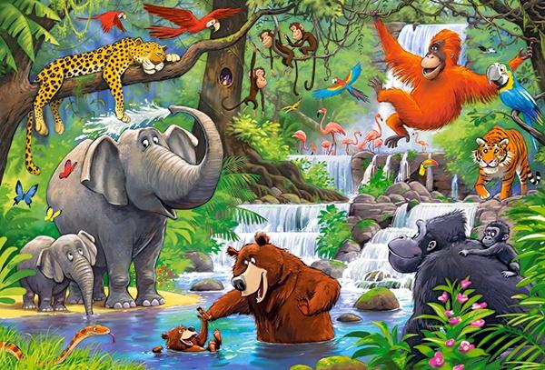 Puzzle Castorland MAXI 40 dílků - Zvířata z džungle