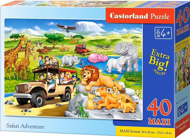 Puzzle Castorland MAXI 40 dílků - Dobrodružství na Safari