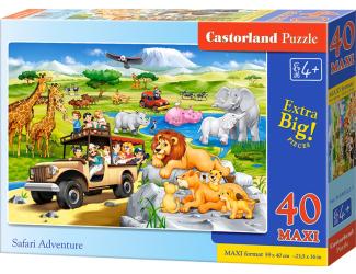 Puzzle MAXI 40dílků - Dobrodružství na Safari