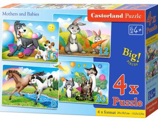 Cartorland puzzle 4v1- Maminky a mláďata