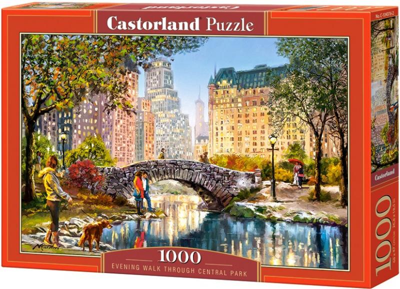 Puzzle Castorland 1000 dílků - Večerní procházka v Centrál Parku