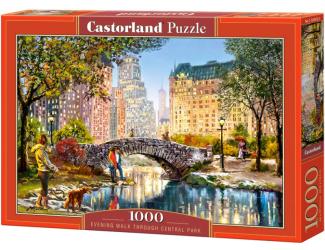 Puzzle 1000 dílků- Večerní procházka v Centrál Parku