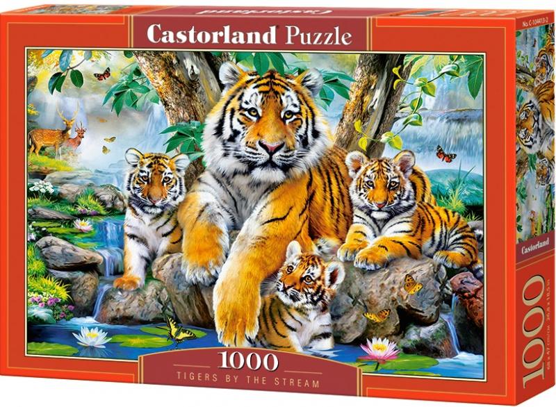 Puzzle Castorland 1000 dílků - Tygři u řeky