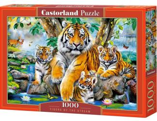Puzzle 1000 dílků - Tygři u řeky