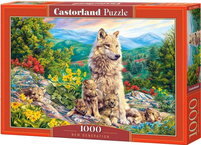 Puzzle Castorland 1000 dílků - Nová generace vlků