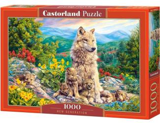 Puzzle 1000 dílků - Nová generace vlků