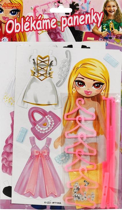 Oblékáme panenky - Blondýnka a bílé šaty