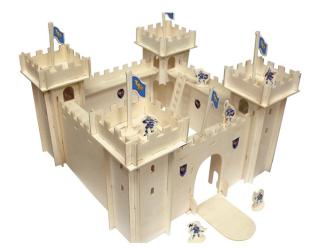Postav dřevěný  hrad