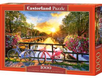 Puzzle Castorland 1000 dílků - Kola v malebném Amsterdamu