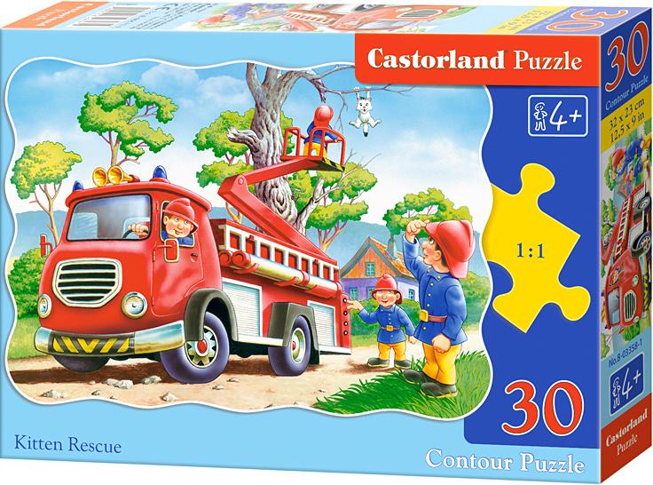 Puzzle Castorland 30 dílků - Hasiči