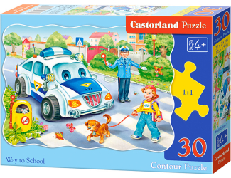 Puzzle Castorland 30 dílků - Bezpečnost především