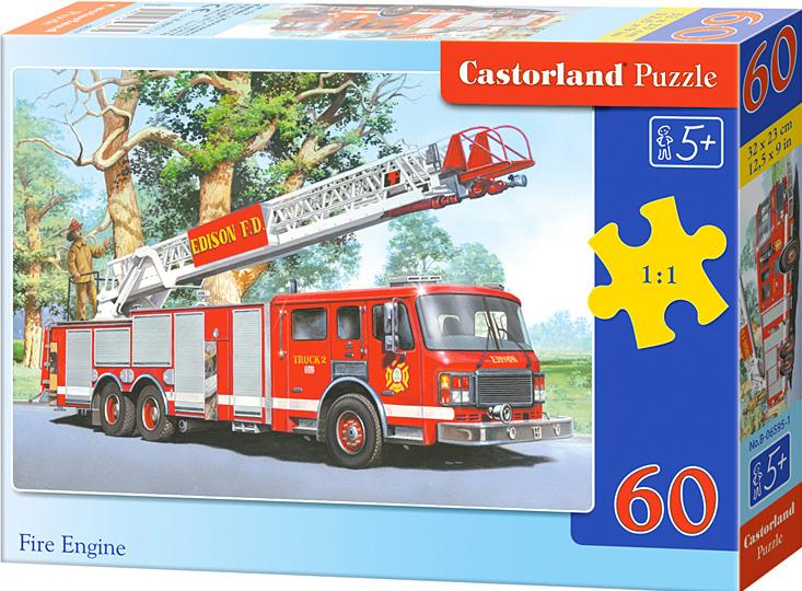Puzzle Castorland 60 dílků - Hasičské auto