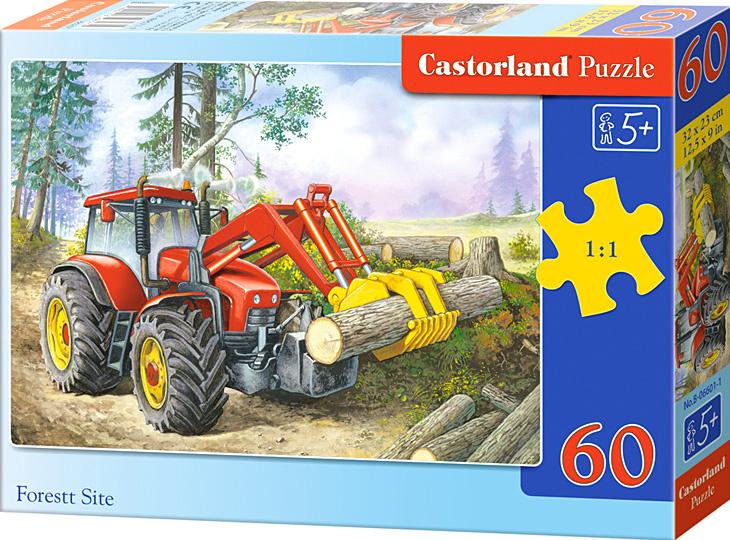 Puzzle Castorland 60 dílků - Traktor nakladač