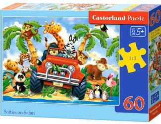 Puzzle Castorland 60 dílků - Jízda na safari