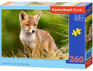 Puzzle 260 dílků- Liška na louce