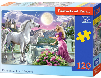 Puzzle Castorland 120 dílků - Princezna s jednorožci