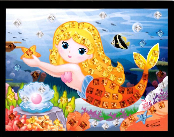 Mozaikový obrázek - Mořské víly v boxu 24 ks, cena za jeden kus je 15 Kč.