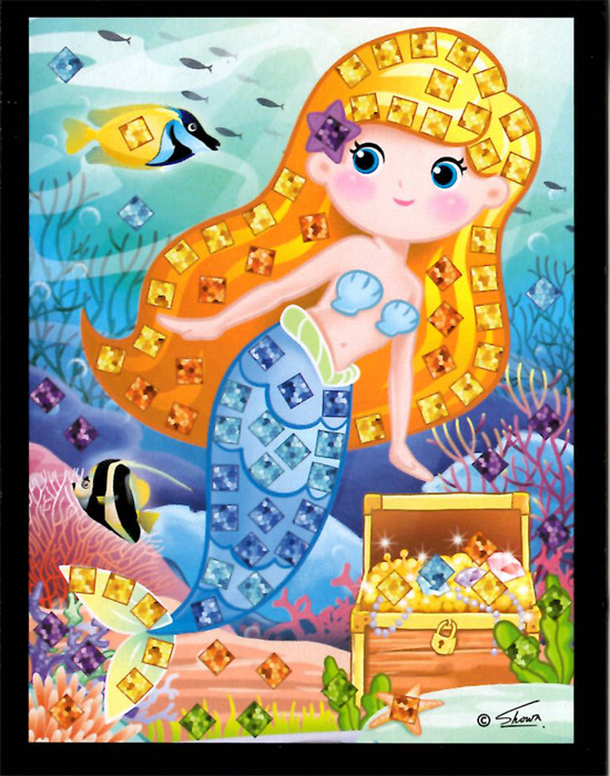 Mozaikový obrázek - Mořské víly