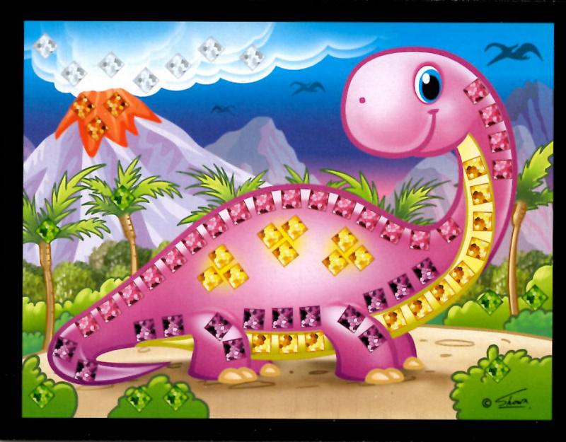 Mozaikový obrázek - Dino v boxu 24 ks, cena za jeden kus je 15 Kč.