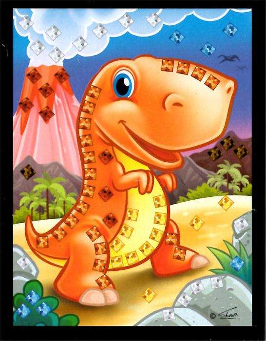 Mozaikový obrázek - Dino