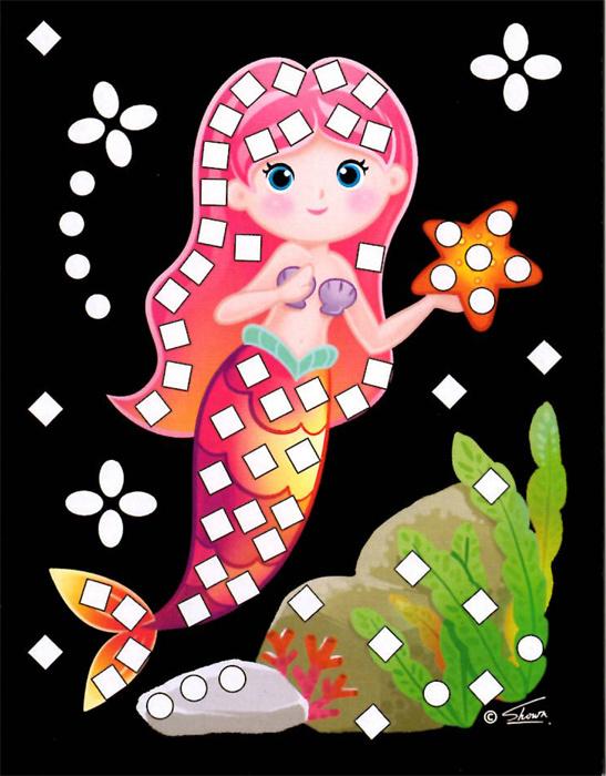 Třpytivý mozaikový obrázek - Mořské víly