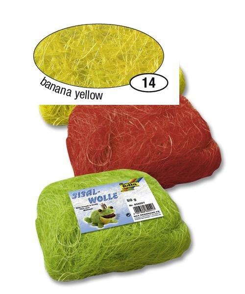 Žluté sisalové vlákno 50 g