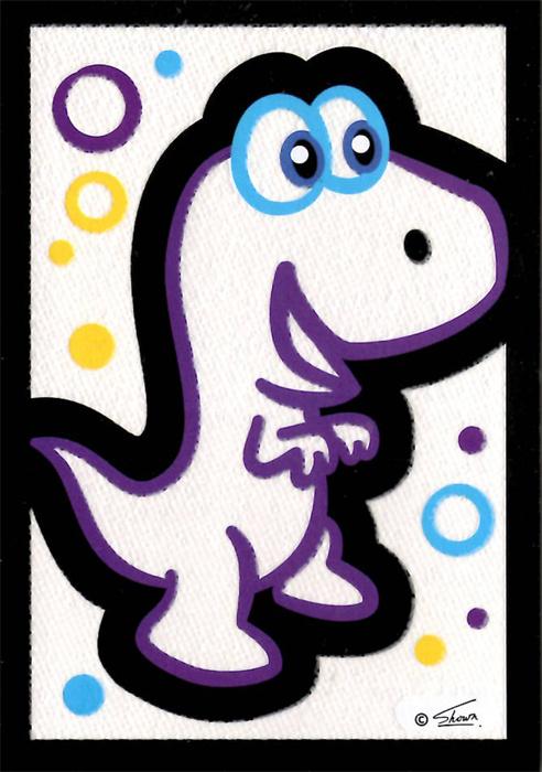 Obrázek s popcorn efektem - Dino v boxu 18 ks, cena za jeden kus 15 kč