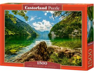 Puzzle 1500 dílků- Jezero Koenigsee, Německo