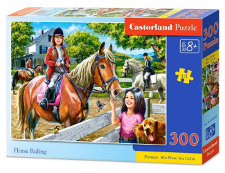 Puzzle 300 dílků- Jízda na koni