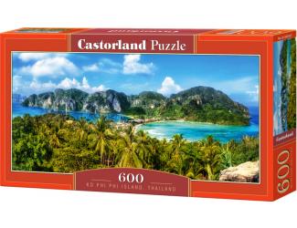 Puzzle 600 dílků - Phi Phi ostrovy, Thajsko