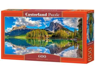 Puzzle 600 dílků - Smaragdové jezero