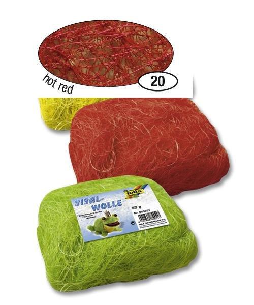 Červené sisalové vlákno 50 g