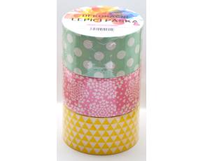 Dekorační lepicí páska - DUCT TAPE- 3 ks pastelový mix