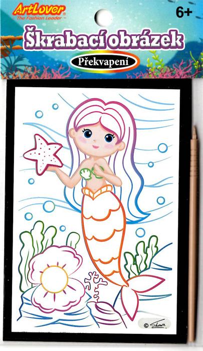 Škrabací obrázky - překvapení - Mořské víly
