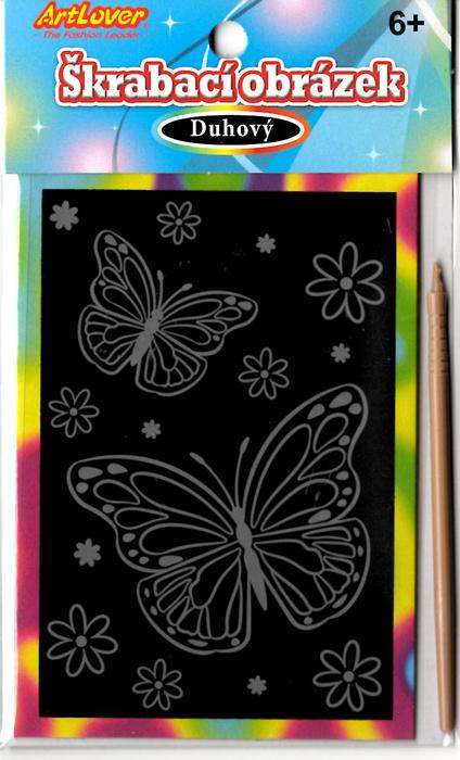 Škrabovací obrázky- duhový - mix motivů v balení 36 ks, cena za kus 15 Kč