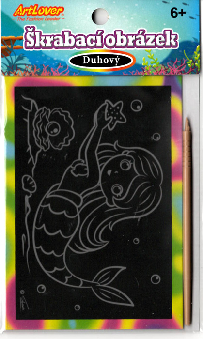 Škrabací obrázek- duhový - Mořské víly