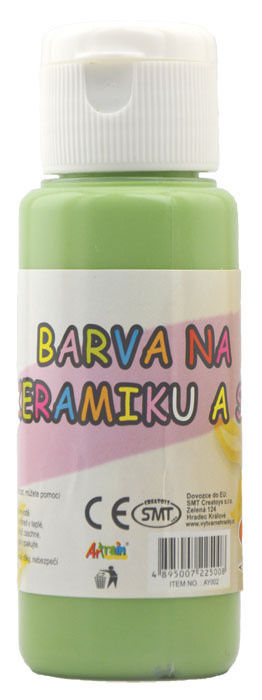 Barva na sklo a keramiku 60ml- zelená