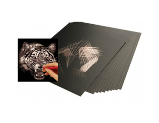 Škrabací folie měděná 22,9 x 15,2 cm 10 ks