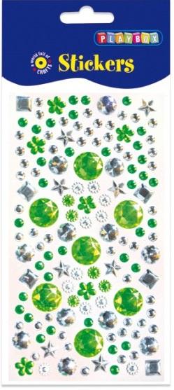 Samolepicí kamínky - různé tvary, zelené