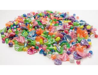 Korálky plastové, perleťové  - 500 ks
