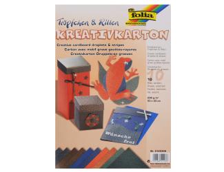 Kreativní karton - kapky a čáry, 10 listů, 230 g/m2, 23 x 33 cm