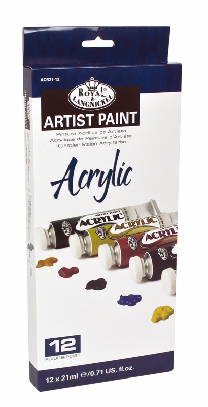 ROYAL and LANGNICKEL Akrylové barvy 12 ks á 21 ml