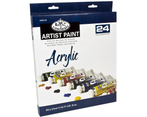 ROYAL and LANGNICKEL Akrylové barvy 24 ks á 21 ml