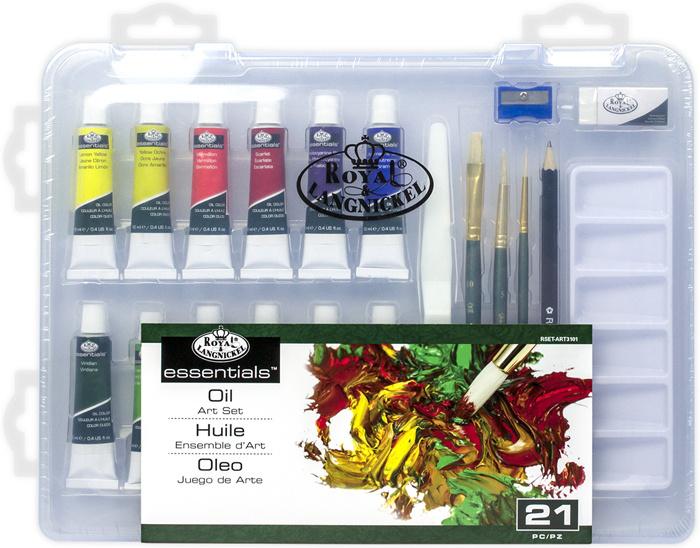 ROYAL and LANGNICKEL Olejové barvy v plastovém boxu