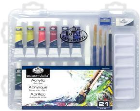 ROYAL and LANGNICKEL Akrylové barvy v plastovém boxu
